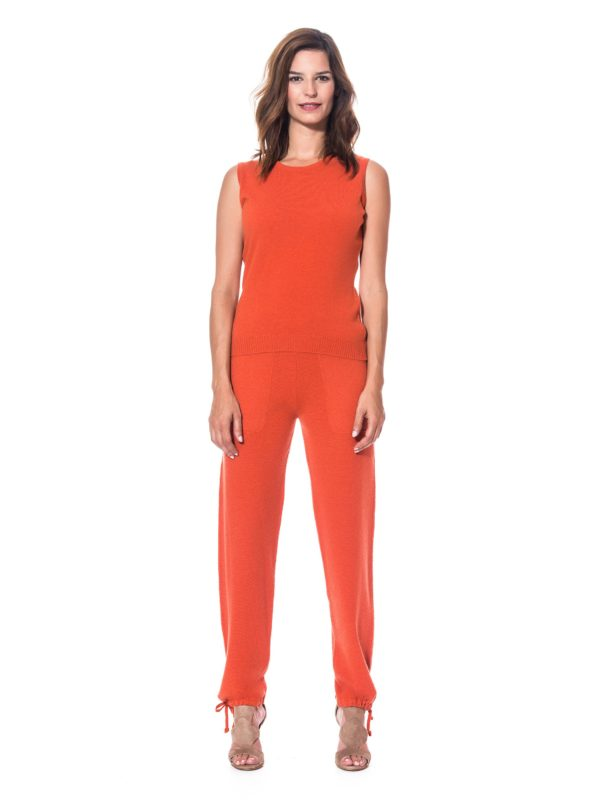 Ensemble cachemire femme orange de marque The Cocoonalist, vue d'ensemble