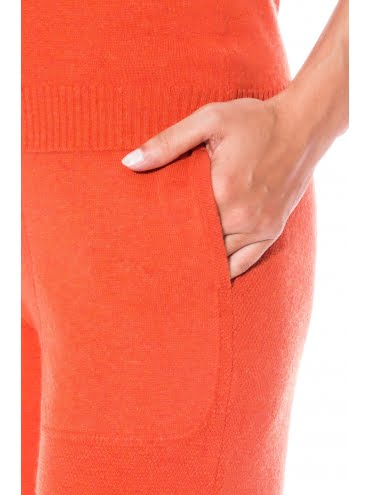 Ensemble Cachemire Orange Style Jogging2