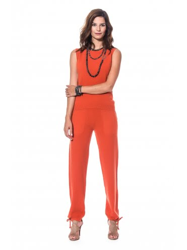 Ensemble Cachemire Orange Style Jogging