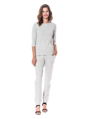 Ensemble jogging coton gris de marque The Cocoonalist