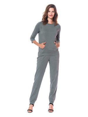 Ensemble jogging coton kaki de marque The Cocoonalist