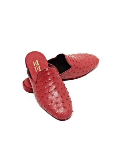 ostrich-leather-slippers-burgundy