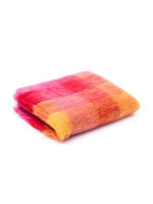Plaid mohair rose orange jaune, de la marque The Cocoonalist