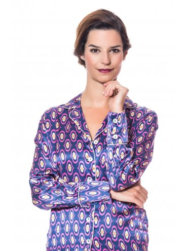 Have nice dreams with a Lila Silk Pyjama.2