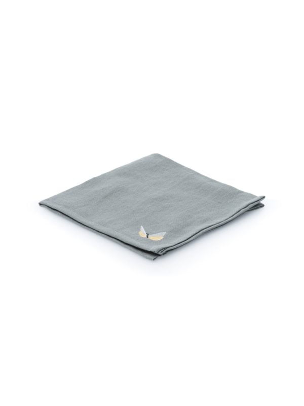 Serviette de table en lin gris, de marque The Cocoonalist